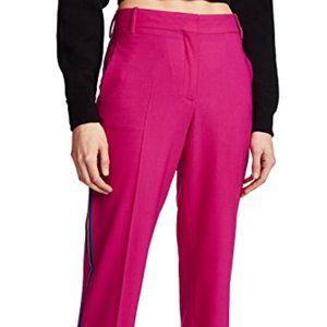 rag & bone pink oman wool crepe trousers